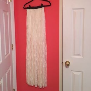 Dresses & Skirts - NWT Small Lace maxi skirt - off white