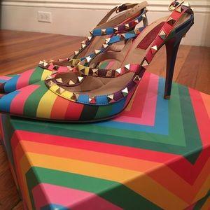 Valentino Rockstud rainbow limited edition size 40