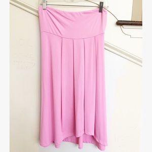 Susana Monaco Dresses & Skirts - Susana Monaco Pink Strapless Pleated Swing Dress