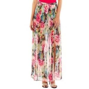 i jeans by Buffalo Dresses & Skirts - Floral Pleated Maxi Skirt