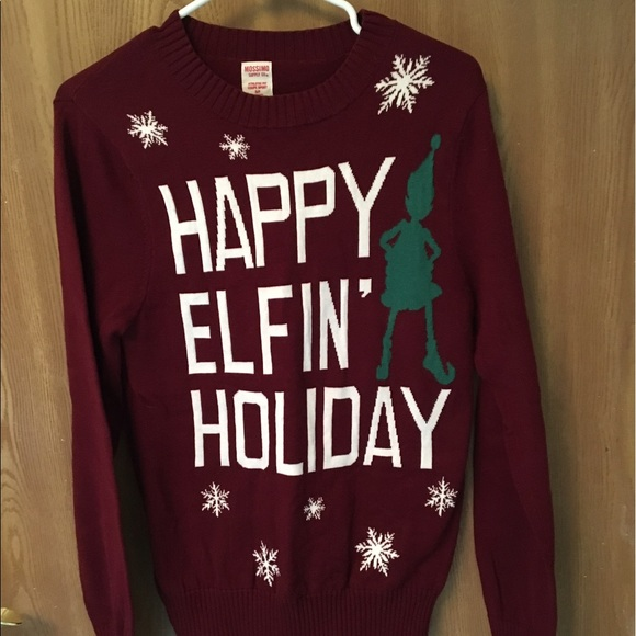 Mossimo Supply Co Sweaters Happy Elfin Holiday Christmas Sweater