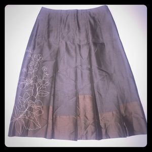 Sigrid Olsen Dresses & Skirts - Silk Box Pleated Skirt