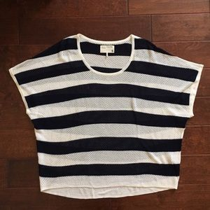 Rag & Bone Open Knit Striped Pullover Top