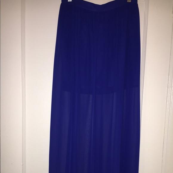 38 h m dresses skirts h m royal blue sheer maxi