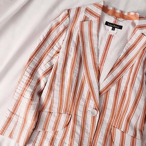 Lida Baday Jackets & Blazers - FINAL FLASH- Lida Baday Marigold Ribbons Blazer