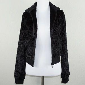 Tucker Jackets & Blazers - Tucker for Target Black Faux Fur Bomber Jacket