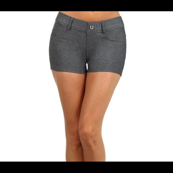 bright n colour hot-selling new images of Charcoal Grey Jeggings Shorts Size Small