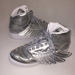 Jeremy Scott x Adidas Other - Jeremy Scott x Adidas Metal Winged Sneaker sz 11