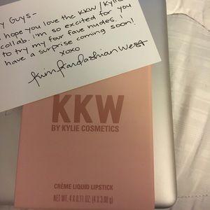 KKW by Kylie cosmetics. Creme liquid lipsticks.