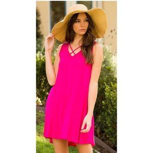 Dresses & Skirts - Pink criss cross dress