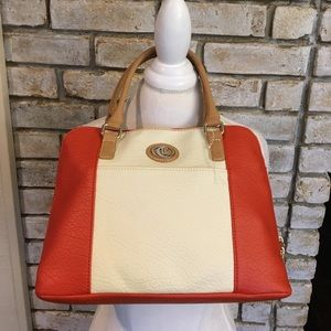 NWT ORANGE AND CREAM SHOULDER BAG