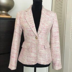 Jackets & Blazers - 😍HP 😍SALE pink & white blazer by Together Sz4