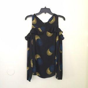Nordstrom brand cold shoulder ruffle shirt