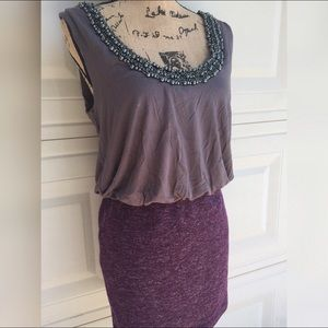 Dresses & Skirts - Beaded purple gorgeous sleeveless Dress