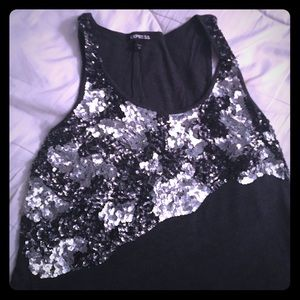 Gray Express sequined tank top