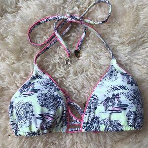 -Juicy Couture- Pink + Yellow Bikini Top