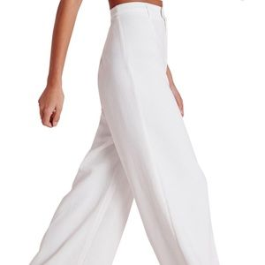 Missguided white wide leg trousers (NWT)