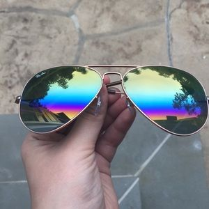 69d0900e74 Ray-Ban Accessories - Ray-Ban Original 58 Aviator Rainbow Sunglasses