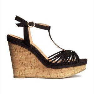 H&M Black Wedges (Size 37)