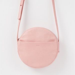 Clare Vivier Handbags - Round pink leather baggu bag rare