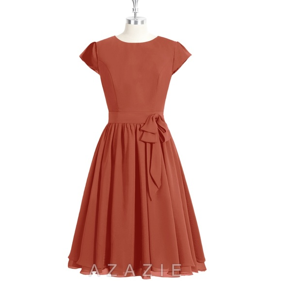 11f1763fec RUST RED AZAZIE INGRID BRIDESMAID DRESS