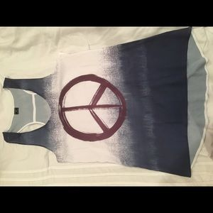 Stranded Tops - Peace Sign Tank Top- Stranded Tops