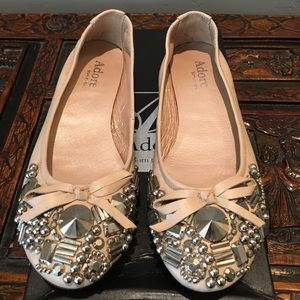 Adore Shoes - Adore embellished ballet flats