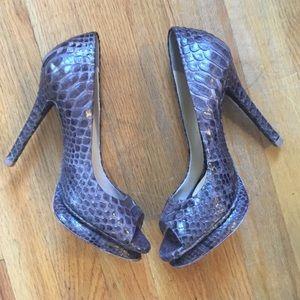 Alexandre Birman Shoes - Salto Meia Pata 🆕Python Platform Pumps