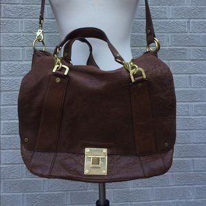 Tory Burch Leather Messenger Convertible Handbag