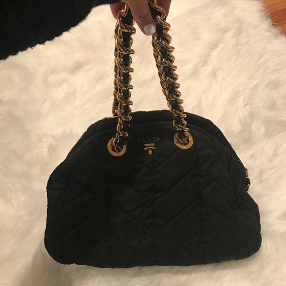 4142b4ae546c0a Prada Bags | Authentic Quilted Nylon Chain Bag | Poshmark