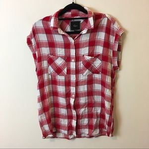 Rails Tops - Rails Red White Plaid Super Soft Button Down Shirt