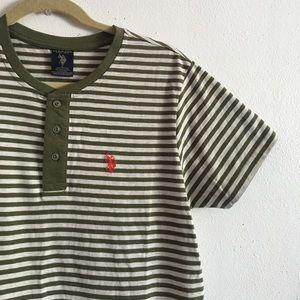 U.S. Polo Assn. Other - Men's Striped Henley Short Sleeve Shirt