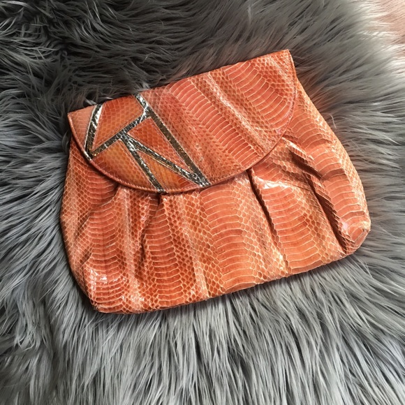Cool Vintage Coral Snake Skin Clutch From