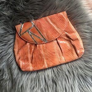 j. Renee Handbags - Cool Vintage Coral Snake Skin Clutch