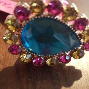 Betsey Johnson crystal ring