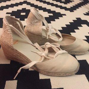 Shoes - Castañer beige Carina espadrilles size 38