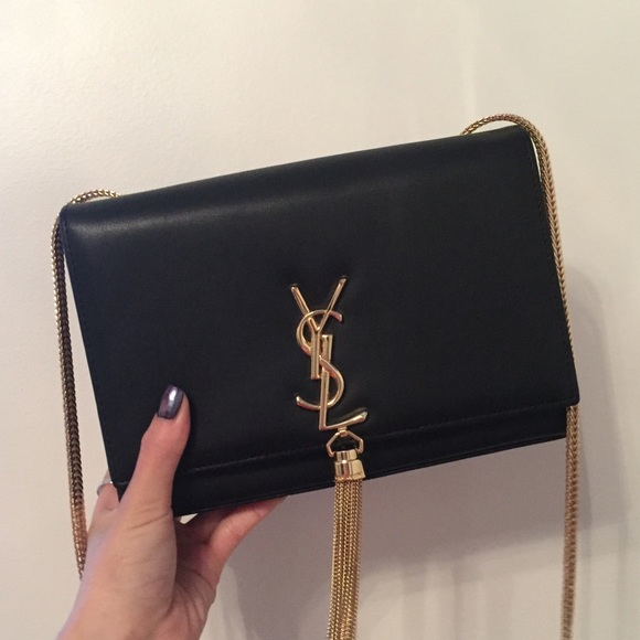 3a3d500242ed Black Tassel YSL Bag with Gold Chain. M 5935f072f0137dfe1700bcaa
