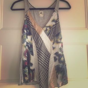 Anthropologie Tops - Anthropologie patterned tank top