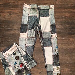 Zara Terez Pants - 🆕Terez Denim Sequin Patchwork Capri Leggings