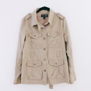 Forever 21 Jackets & Blazers - F21   Light Brown Utility Jacket