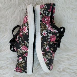 American Eagle by Payless Shoes - Dark floral tennis shoe sneakers