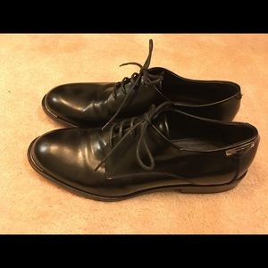 New Alessandro Dell'Acqua men's black dress shoes