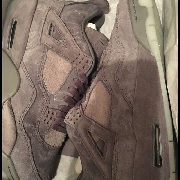 new concept d7698 2b4a7 Nike Air Jordan 4 IV KAWS SZ 9.5 Cool Grey Suede