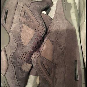 364594052c6f Air Jordan Shoes - Nike Air Jordan 4 IV KAWS SZ 9.5 Cool Grey Suede