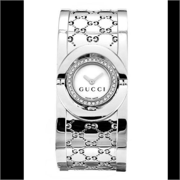 ff59074fa38 Gucci Accessories - Gucci Twirl Stainless Steel Diamond Quartz Watch