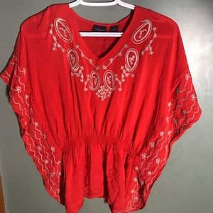 Westbound Butterfly Sleeve Boho Top