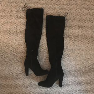 Wild Diva Faux Suede over the knee boots
