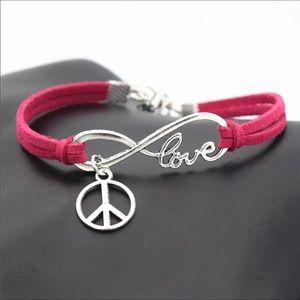 Jewelry - Love Peace Leather Bracelet
