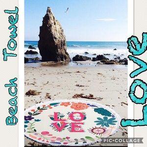 LOVE Fringe Beach Towel