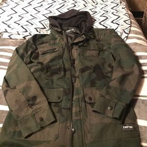 Camo Other - Camo jacket with black hood  #empyre